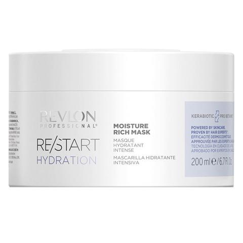 REVLON Restart Hydration: Интенсивно увлажняющая маска для волос (Moisture Rich Mask), 200мл/500мл