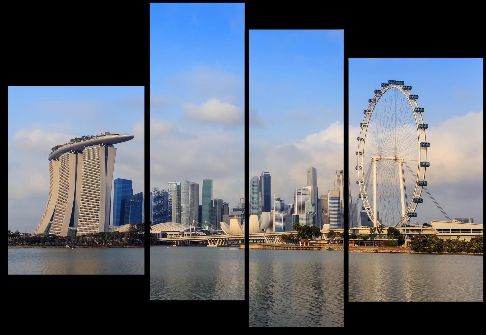 """Города Модульная картина """"Высотные здания"""" М262.png"""