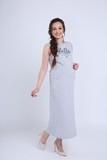 Платье для беременных 08730 серый меланж