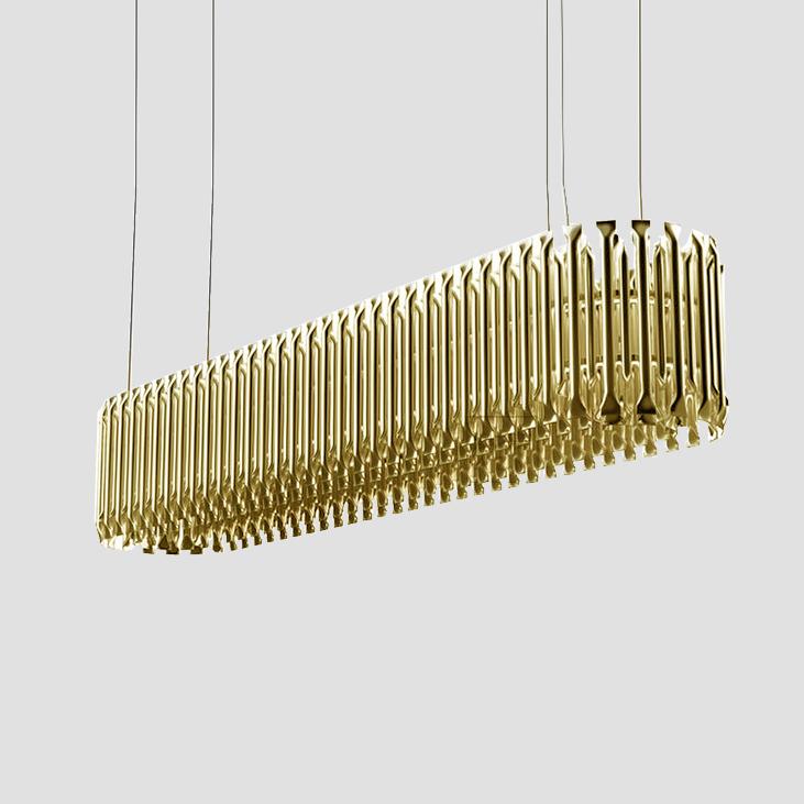 Подвесной светильник копия Matheny by Delightfull L120 (горизонтальный)