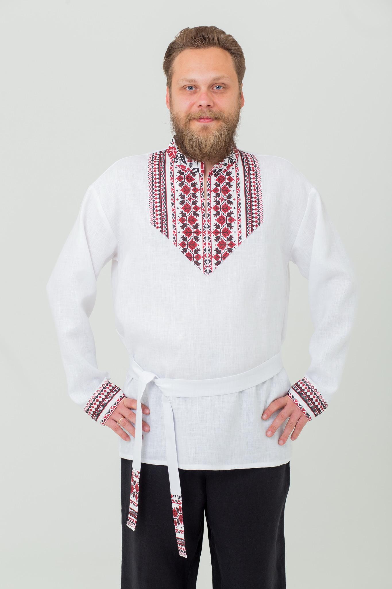 Рубаха льняная русская народная Мужская сила