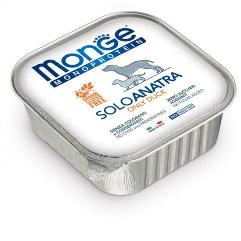 Monge Dog Monoprotein Solo консервы для собак паштет из утки 150 г