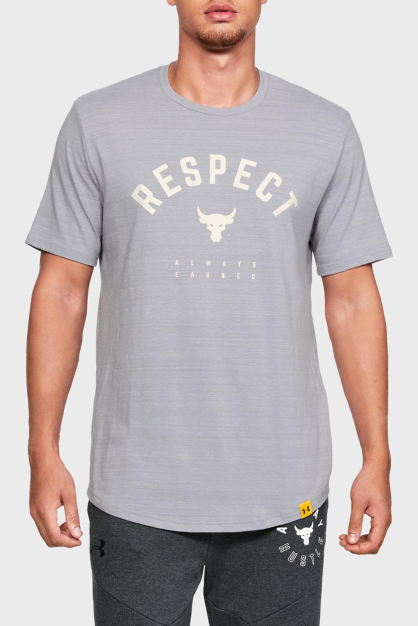 Мужская серая футболка PROJECT ROCK RESPECT TEE Under Armour