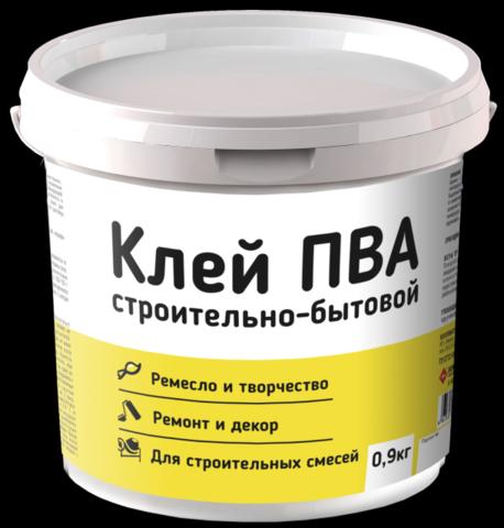 Клей ПВА Оптилюкс строительно-бытовой (0,9кг)