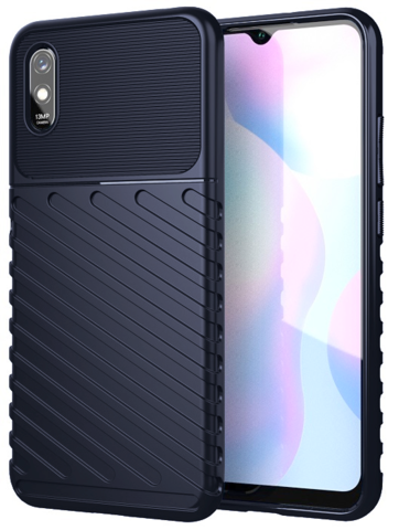 Carbon / Чехол для Xiaomi Redmi 9A серия Оникс   синий