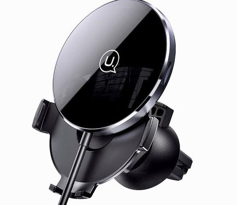 Автомобильный держатель с беспроводной зарядкой Usams CD164 15w /black/