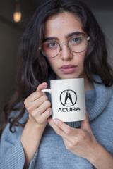 Женская кружка с принтом Акура (Acura) белая 002