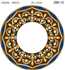 Эскиз для росписи, Зеркало диаметр-45см, SMAR-ZBK-12