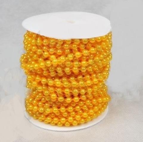 Бусы на бобине (размер: 8мм х 10м) Цвет:желтый