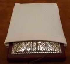 Серебряная с золочением икона Божией Матери Казанская 8,5х7см