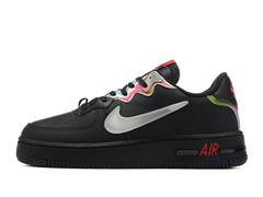 Nike Air Force 1 React 'Black/Glow-Habanero Red'