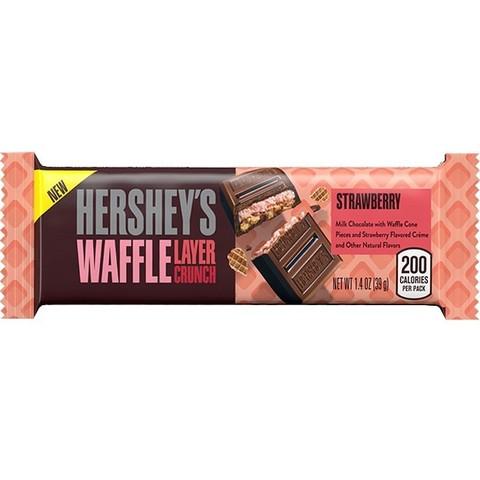 Шоколад Hershey's Waffle Layer Crunch strawberry вафельный с клубникой 39 гр