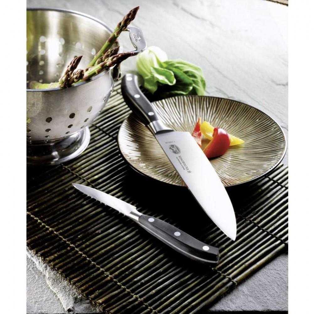 Профессиональный нож Victorinox шеф-повара из кованой стали, длина лезвия 20 см. (7.7403.20G)