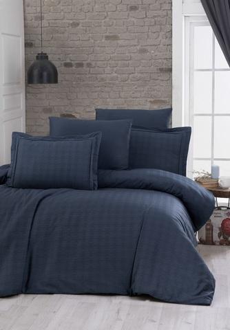 Комплект постельного белья DO&CO Сатин  жаккард  EXCLUSIVE 200*220 (50*70/2) (70*70/2) 250TC DARCELL цвет синий