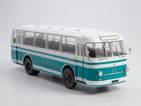LAZ-695M white-turquoise 1:43 Modimio Our Buses #23