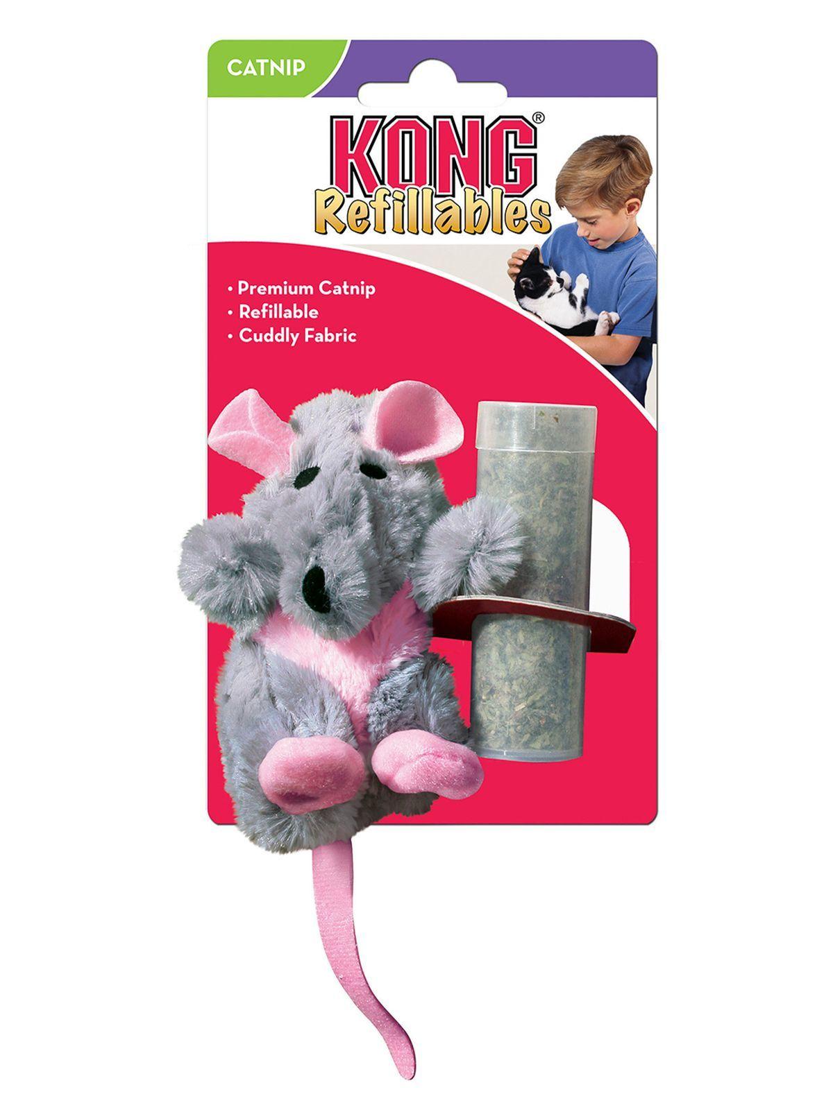 """Игрушки Игрушка для кошек KONG """"Крыса"""" 12 см плюш с тубом кошачьей мяты NR45.jpeg"""