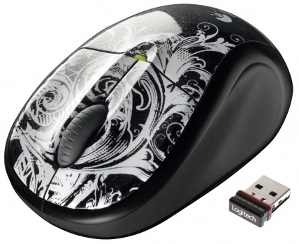 LOGITECH M305 Cordless USB Fleur Dark