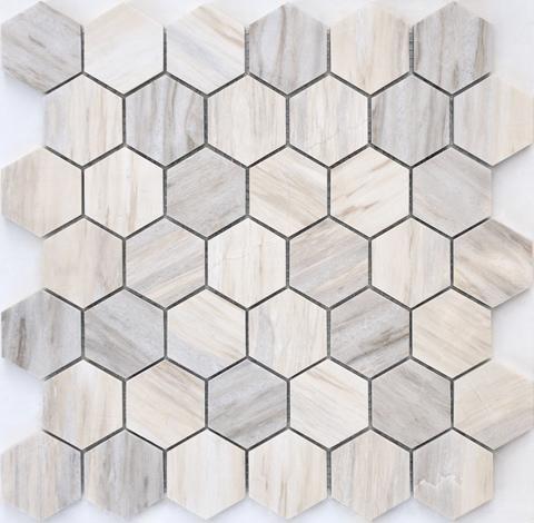 Мозаика Nuvola Rosato POL hex 23x40x8 292х290