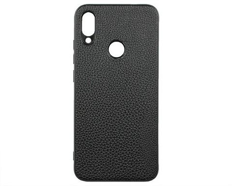 Чехол для Xiaomi Redmi Note 7/Note 7 Pro/Note 7S экокожа | черный
