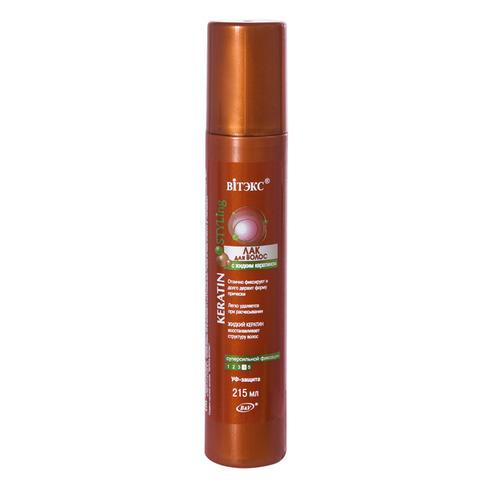 Витекс Keratin STYLing Лак для волос с жидким кератином сверхсильной фиксации 215мл
