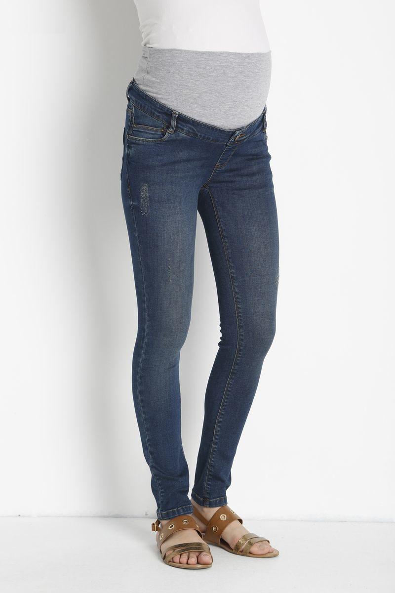 Фото джинсы для беременных GEBE, зауженные, средняя посадка, из стрейчевого денима от магазина СкороМама, синий, размеры.
