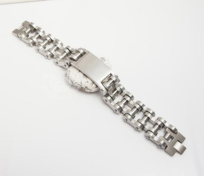 BM420 Огромный и широкий мужской браслет цепь из стали (22 см) фото 02