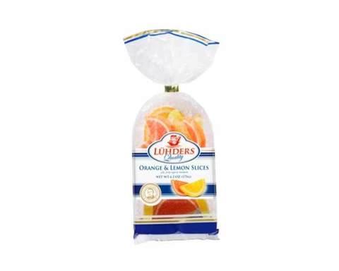 Мармелад Апельсиновые и лимонные дольки Luhders, 175 г
