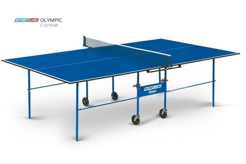 Теннисный стол Olympic с сеткой - стол для настольного тенниса для частного использования со встроенной сеткой.