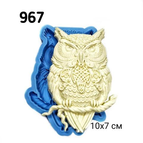 0967 Молд силиконовый Сова с орнаментом.