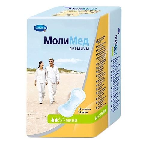 Hartmann. Прокладки послеродовые MOLIMED Premium Mini, 1уп/14шт