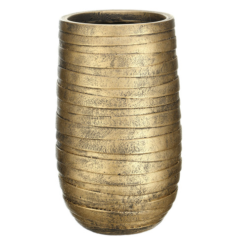 ROWEV26-GLD Кашпо Роу Высокое, файберстоун, золото, D26.5 H45 cm