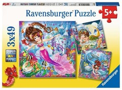 Puzzle Charming mermaids 3x49 pcs