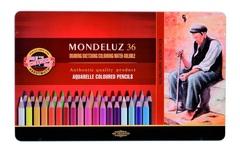 Набор художественных акварельных карандашей MONDELUZ OLD MAN 36 цветов в металлической коробке