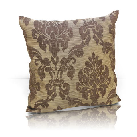 Подушка декоративная Афина жаккард темно-коричневый