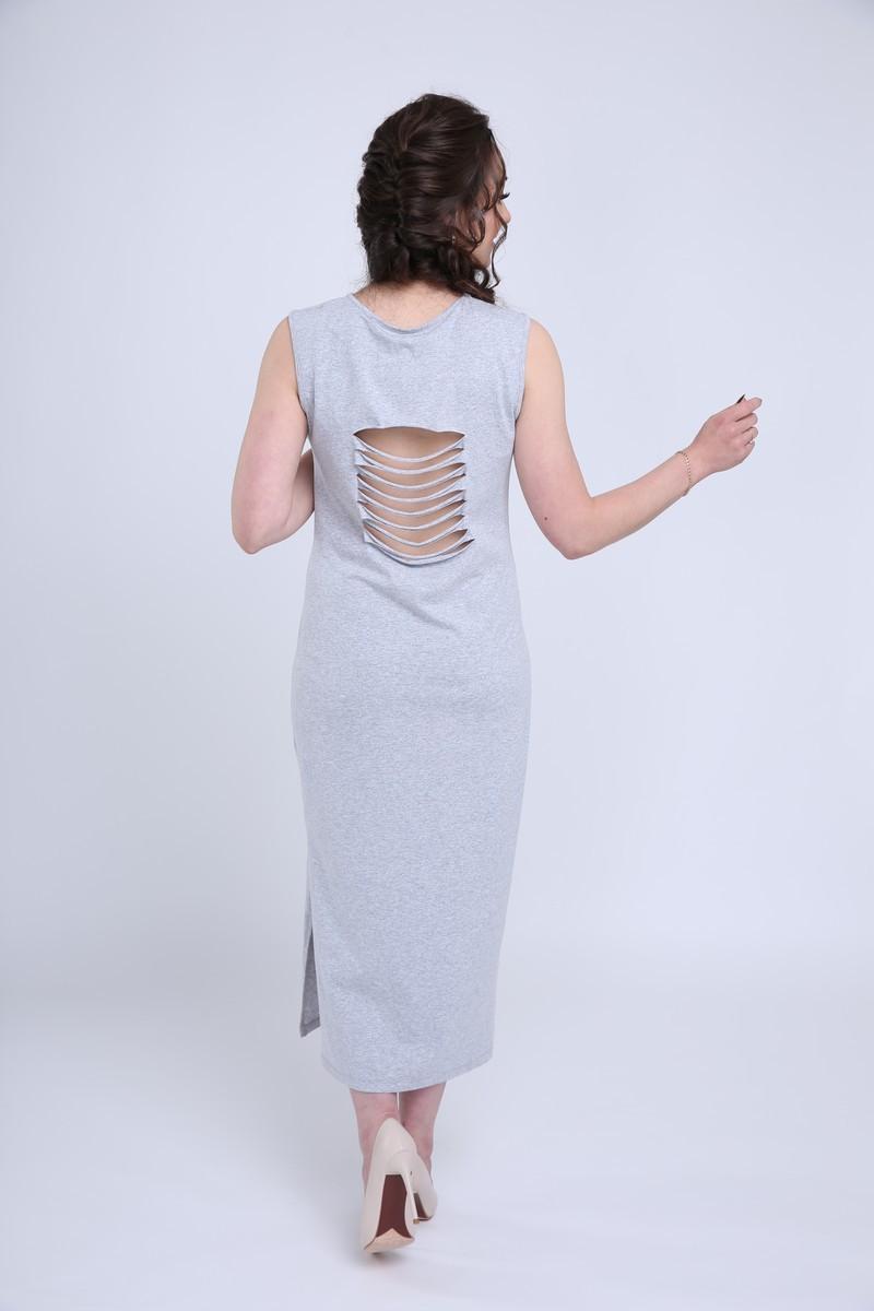 Фото платье для беременных MAMA`S FANTASY, длинное, трикотажное от магазина СкороМама, серый, размеры.