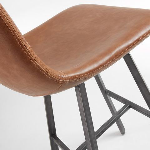 Полубарный стул Trac коричневый