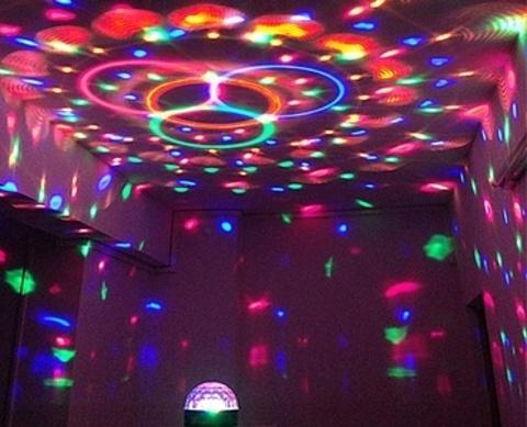 Светодиодный Диско-шар LED RGB Magic Ball Light c ПДУ и mp3 плеером