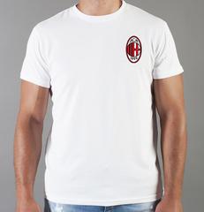 Футболка с принтом FC ACM Milan (ФК Милан) белая 007