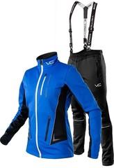 Утеплённый лыжный костюм 905 Victory Code Speed Up wo's blue с лямками женский