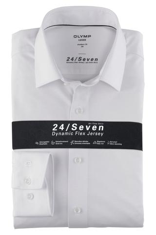 OLYMP LUXOR 24/Seven MODERN FIT Трикотажная сорочка гладкая