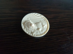 Силиконовый молд № 372  медальон Лев