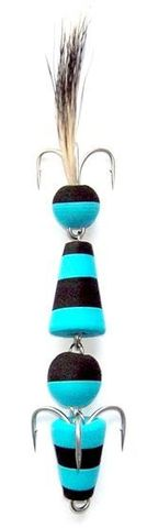 Джиговая приманка Мандула цвет №3 с крючком Owner и опушкой из шерсти барсука