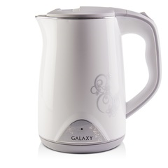 Чайник с двойными стенками GALAXY GL0301 (белый)