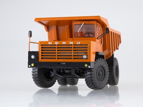 BELAZ-540A Dumper 5 grille crossbars orange 1:43 Dealer models BELAZ