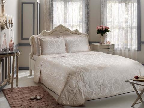 Покрывало жаккардовое 2-спальное Tivolyo home DAMARIS 260х260 см розовое