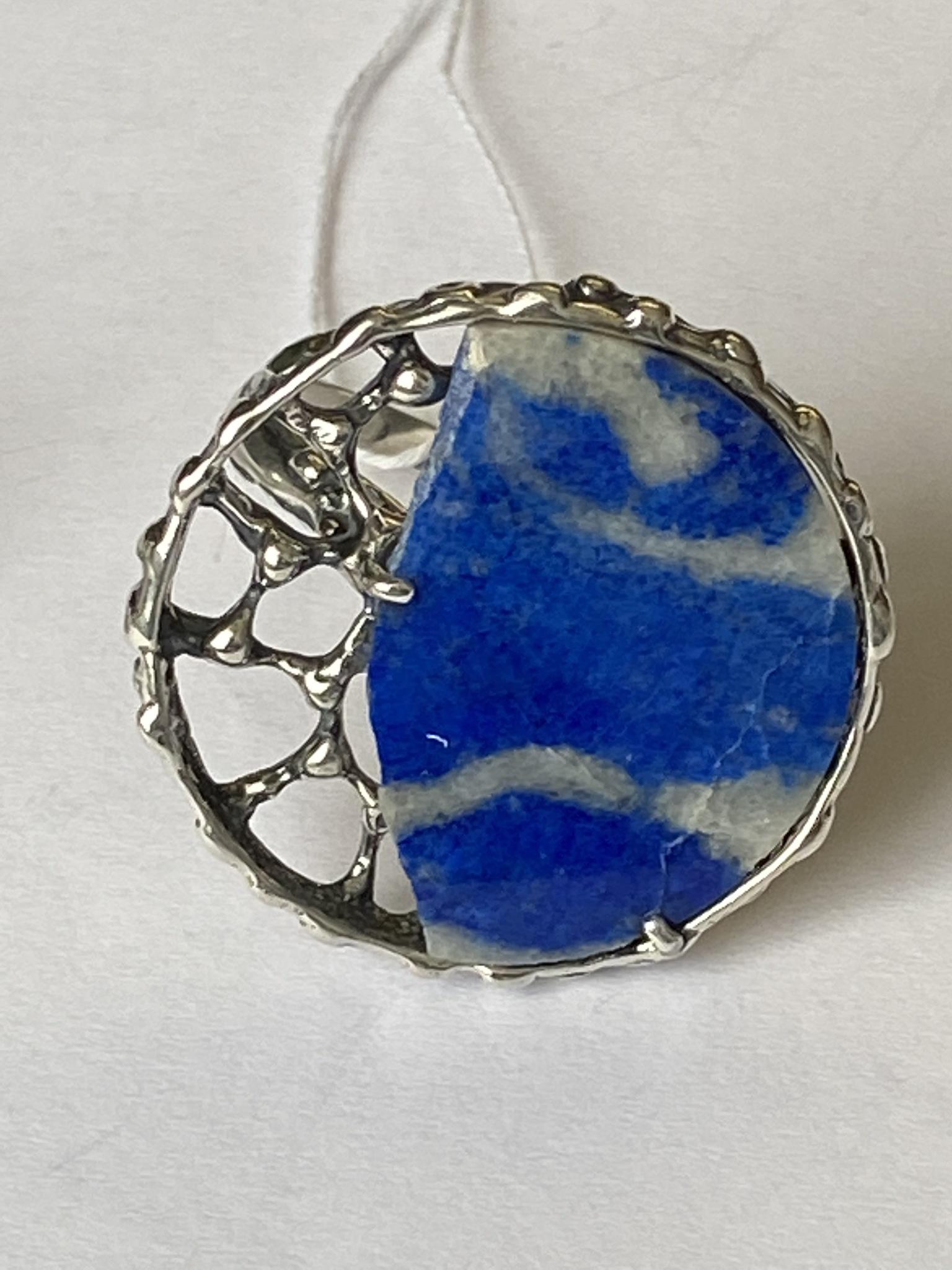Пергола-лазурит (кольцо из серебра)