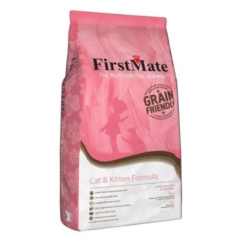 FirstMate Cat & Kitten сухой низкозерновой корм для котят и взрослых кошек 2,3 кг.