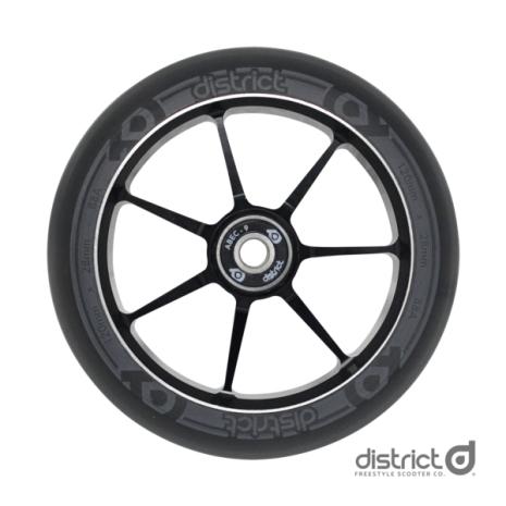 Колесо с подшипниками для самоката District 110x28mm Dual Width Core Black/Grey
