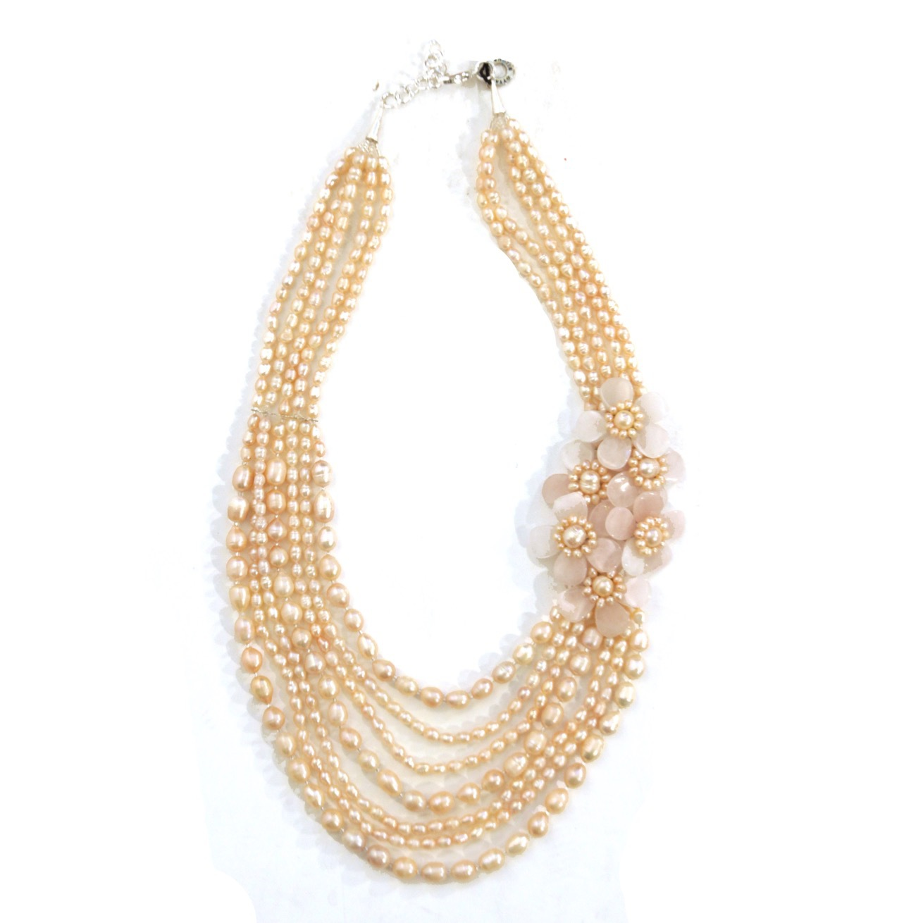 Ожерелье из розового жемчуга OTTAVIANI