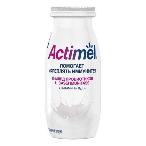 """Кисломолочный продукт """"Actimel"""" Натуральный  2,6% 100г"""